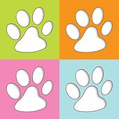 Animal Paw colourful