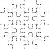 Puzzle background template 4x4