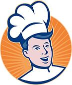chef cook baker head