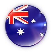 badge- Australian flag
