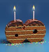 number 60 shaped birthday cake