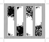 Four seasons, black banners for your design