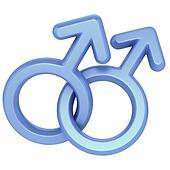two male symbols