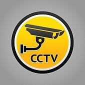 Surveillance camera warning pictogram