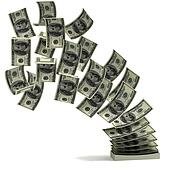 money transfer 3d concept