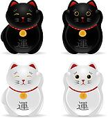Lucky cats (Maneki Neko)