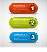 One two three - 3D vector progress buttons