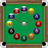 Billiards table clock