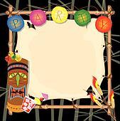 Tropical retro tiki or luau party