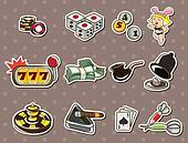 cartoon casino stickers