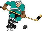 Cartoon Hockey Player