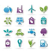 Green, Environment and ecology Icon