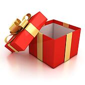 open red present box