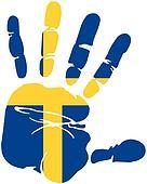handprint flag of sweden