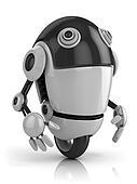 funny robot 3d illustration