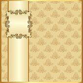 seamless light background with band and frame with gold(en) pat