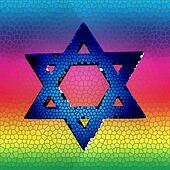 Star of David in stained glass