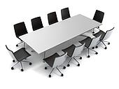 conference table isolated