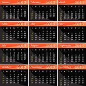 calendar for 2013 year vector illustration