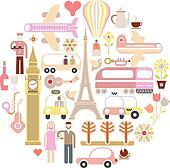Travel - vector illustration
