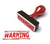 3d warning stamp