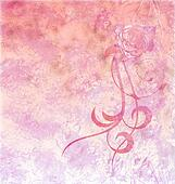 red rose grunge textured background light pink