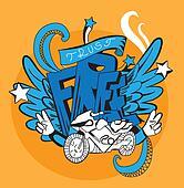 Graffiti vector abstract illustration