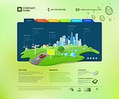 Website template. Infographics