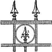 Lance Tip Design, vintage engraving