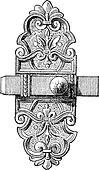 Latch and Bolt vintage engraving