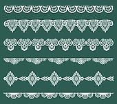 Set of Lace Ribbons - for design and scrapbook - in vector