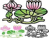 Art Deco style Water lotus