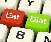 Eat Diet Keys Showing Fiber Exercise Fat And Calories Advice Onl