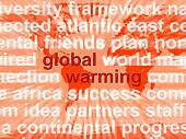 Global Warming Words Showing Climate Conservation And Planet Pro