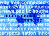 International Commerce Word Showing The Business Of Buying And S