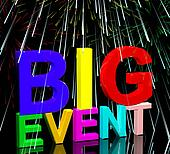 Big Event Words With Fireworks Shows Upcoming Festival Concert Or Occasion