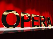 Opera Word On Stage Showing Classic Operatic Culture And Perform