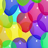 Festive Colorful Balloons In The Sky For Birthday Or Anniversary