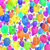 Festive Colorfull Balloons In The Sky For Birthday Celebrations