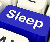 Sleep Computer Key Showing Insomnia Or Sleeping Disorders Online