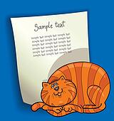 cartoon design with fat red cat