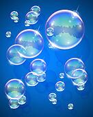 soap bubble abstract background