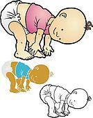 Jayden dancing in his diaper