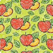 Pattern with apples