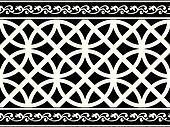black-and-white gothic border