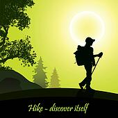 Hiking Clip Art - Royalty Free - GoGraph