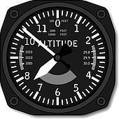 vector aviation airplane altimeter