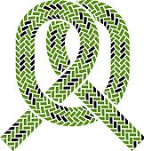 vector climbing rope knot symbol