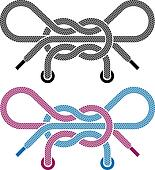 vector shoe lace knot symbols