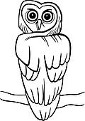 cartoon owl for coloring book
